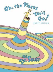 OH, the Places You'll Go! Dr. Suess Oversize Hardback EUC