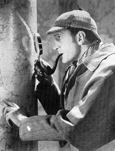 Basil Rathbone ~ Sherlock Holmes. The original, but not the best.  But nothing like old school