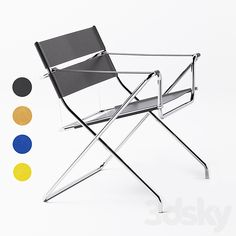 3d models: Chair - Marcel Breuer D4 Folding Chair Wassily Chair, Bauhaus Design, Marcel Breuer, Stainless Steel Tubing, Geometric Form, Outdoor Chairs, Outdoor Decor, Saddle Leather, Tubular Steel