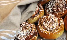 Kanelbullar - Swedish cinnamon buns. Nothing quite beats a hot cinnamon bun, straight from the oven, accompanied by a strong cup of coffee! Especially when my wife Karin makes them....MMmmm
