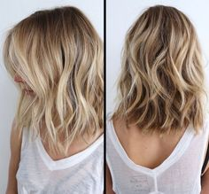 blonde brown highlights haircut hairstyle long bob