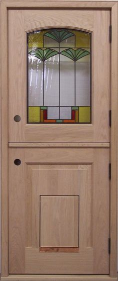 Jeld Wen Pre Hung Entry Door With Factory Built In Pet Door Home