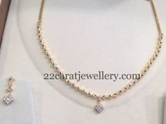 Very Less Weight Diamond Sets - Jewellery Designs