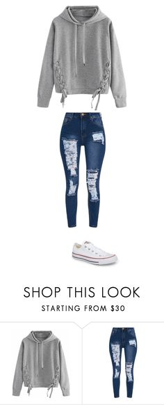 """november 20"" by ottoca on Polyvore featuring WithChic and Converse"