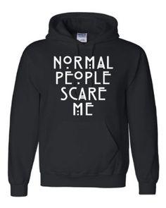 Adult Normal People Scare Me Sweatshirt Hoodie Retro Sweatshirts,  Kapuzenpulli, Duck Dynasty, Zombies 09017fd955