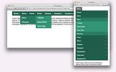 primary secondary menus responsive - Google Search