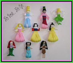Princess ribbon clips