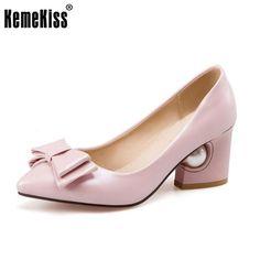 985500277f1 New Spring Women Pumps Elegant Rhinestone Fashion Bowtie High Heels Slip-on Shoes  Heeled Pointed