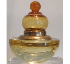 Rare Vintage Murano Italian Art Glass Inkwell. Circa early 1900s.