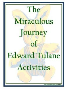 A fun and creative way for your students to summarize what they have read and learned in the novel, The Miraculous Journey of Edward Tulane by Kate DiCamillo.Students will be writing about the setting, plot, theme and about a favorite character.Students will have the opportunity to rename Edward and draw him with new clothing.