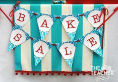 Adorable bake sale! Printable banner from Chickabug