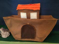 Arca de Noé - feltro costurado a mão