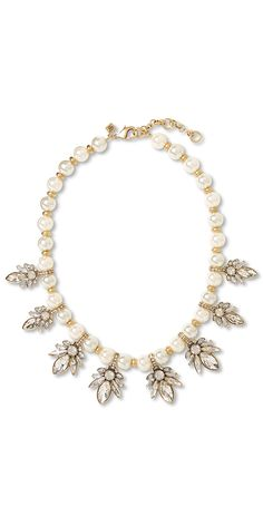 Dress up boyfriend jeans with this pearl statement necklace from Banana Republic.