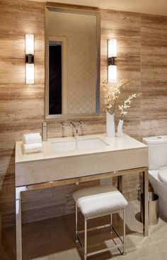 Neutral and modern bathroom