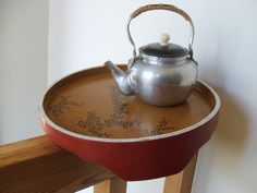 Tea Time Japan  Tea Kettle and Tray by lookonmytreasures on Etsy, $28.70