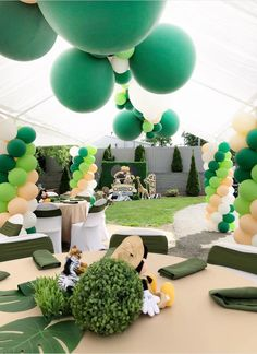 My Little Angel Decorations 's Birthday / Mickey Mouse / Safari - Photo Gallery at Catch My Party Safari Theme Birthday, Boys First Birthday Party Ideas, Jungle Theme Parties, Wild One Birthday Party, Baby Boy 1st Birthday, Dinosaur Birthday Party, Boy Birthday Parties, Jungle Party, Jungle Safari