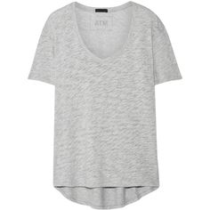 ATM Anthony Thomas Melillo Boyfriend slub cotton-jersey T-shirt ($95) ❤ liked on Polyvore featuring tops, t-shirts, light gray, tattoo sleeve t shirts, relaxed fit t shirt, sleeve t shirts, boyfriend t shirt and light grey t shirt