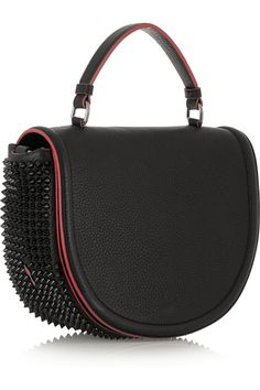 Christian Louboutin Panettone Messenger spiked textured-leather tote NET-A-PORTER.COM