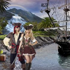 Ahoy mateys. Are you ready for some swashbuckling fun? Our variety of pirate costumes will have you ready to sail the high seas in search of treasure. These outfits evoke feelings of rebellion, independence and excitement. It's time to grab a hold of your destiny and take on a great big adventure.