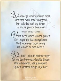Recently shared overleden moeder tekst ideas & overleden moeder tekst pictures Sign Quotes, Words Quotes, Me Quotes, Sayings, Loosing Someone, Happy Birthday In Heaven, Miss My Dad, Dutch Quotes, Wishes For You