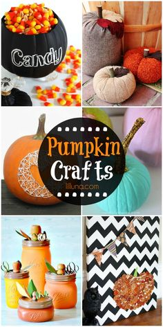A roundup of cute pumpkin crafts that make for the perfect fall and Halloween decor! See it on { lilluna.com }