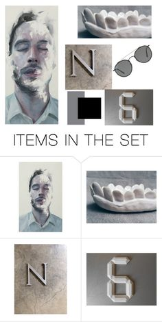 """""""a l p h a n u m e r i c"""" by atticle ❤ liked on Polyvore featuring art and vintage"""