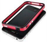 Red and Black Premium Bumper Case for Apple iPhone 4