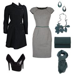 """Grey and Teal"" by mrscosentino on Polyvore"