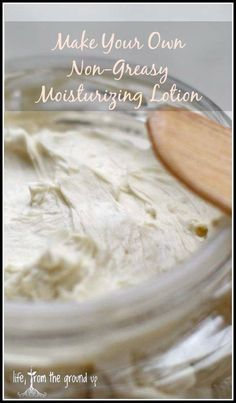 When you need moisturizing but not all the oiliness, whip up a batch of this non-greasy lotion!