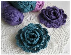 How to Crochet a Beautiful Lace Ribbon Rose