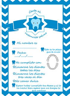 #imprimibles #gratis carta ratoncito pérez para niño Dental Assistant, Tooth Fairy, Stencils, Diy And Crafts, Printables, Baby Shower, School, Children, Scrapbooking