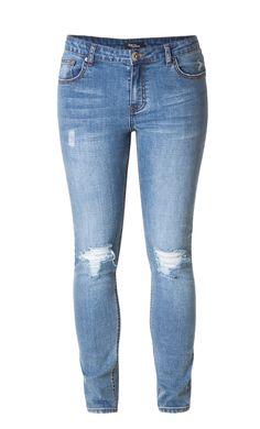 Slimfit jeans van Ivy Beau met leuke details http://www.beyou-dameskleding.nl/ivy-beau/