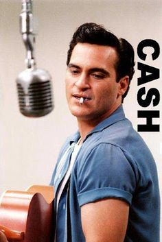 Men's Hairstyle: Young Johnny Cash  Joaquin Phoenix portraying Cash's style.