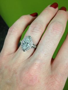Still the best ring I've ever seen and its on my finger. Custom antique style, marquise engagement ring.