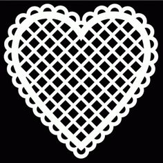 Lacey Heart by Bird.  Free Cut File – Formats include ai, dxf, gsd, mtc, pdf, studio & svg