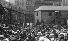 Emma Goldman talking about birth control to garment workers in Union Square in 1916. Almost 100 years later - Why are we still having this conversation?