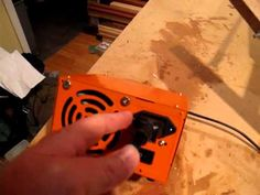 Homemade foam cutter power supply and hot wire bow. Styrofoam Art, Foam Carving, Foam Cutter, Christmas Village Display, Department 56, Garage Ideas, Crete, Cnc, Wood Projects