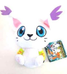 "Digimon Digital Monsters Gatomon 4"" Licensed Plush Vol 2 Anniv."