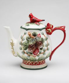 Sugar High Social Evergreen Holiday Teapot | zulily