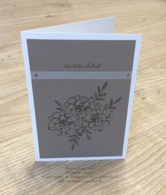 Trauerkarte, Kondolenzkarte Stampin' Up! Stempelset Was ich mag SAB 2016 und Stempelset Kleine Wünsche www.stempelrausch.de