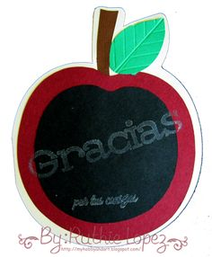 Apple Card - Scrapbooking Sister - Ruthie Lopez DT