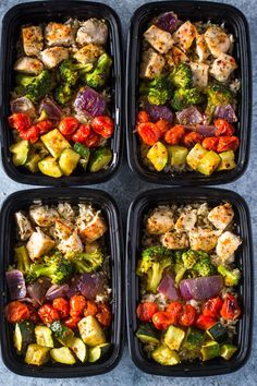 Seasoned with olive oil and italian spices then roasted to perfection, this sheet pan chicken and rainbow veggies is great
