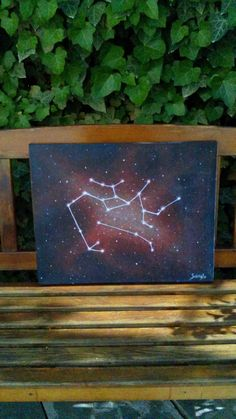Sagittarius & Aries acrylic on canvas 40x50 cm #Sagittarius #Aries #constellation #galaxy #stars #zodiac #horoscope #acrylic #canvas #painting #art