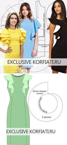 f1a47f1827 Los patrones de los vestidos con las mangas-volantes de Anastasia Korfiati     Валентина