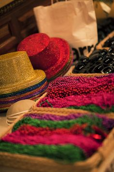 mardi gras party favors - great idea for a Mardi Gras themed kick-off party for a workplace campaign!