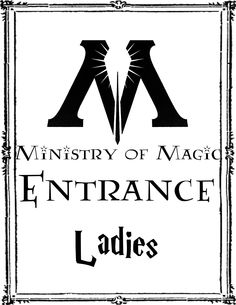 Harry Potter Party Ladies bathroom sign