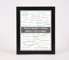 Poster Gift for Boyfriend or Husband Printable File by OMyGlam