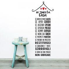 In questa casa 2 - http://www.adesivimurali.com/aforismi/01328-in-questa-casa-2