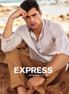 Sean opry 2016 express spring summer campaign 001 express rounds up key spring styles photography poses Senior Picture Outfits, Girl Senior Pictures, Beach Outfits, Beach Pictures, Beach Fashion Photography, Photography Poses, Sean O'pry, Express Men, The Fashionisto