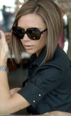 Victoria Beckham. Obsessed with her angular bob!